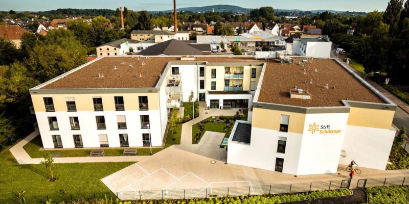 Luftaufnahme vom Gebäude Stift Schötmar
