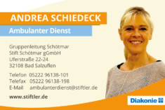Visitenkarte Andrea Schiedeck