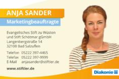 Visitenkarte Anja Sander