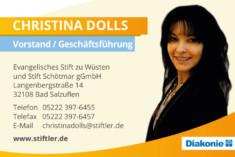 Visitenkarte Christina Dolls