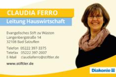 Visitenkarte Claudia Ferro