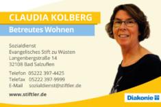 Visitenkarte Claudia Kolberg