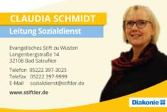Visitenkarte Claudia Schmidt