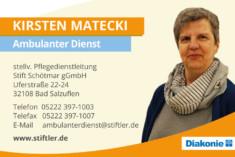 Visitenkarte Kirsten Matecki
