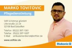 Visitenkarte Marko Tovitovic