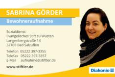 Visitenkarte Sabrina Görder