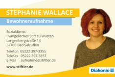Visitenkarte Stephanie Wallace
