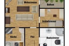 Grundriss Seniorenwohnung im Stiftweg für 2 Personen